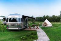 New: Airstream + bell tent