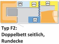 Roulotte (affitto) Typ F2, Nr. 025, 2E+2K mit WC ***