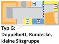 Roulotte (affitto) Typ G, Nr. 068, 2E+3K mit WC **
