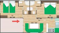 Mobil home Mobile Home Gold 5/6 Pers. 55mq